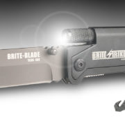 HUNTING KNIFE WITH FLASHLIGHT AND FIRE STARTER