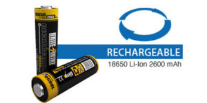 18650 LI-ION 2600 RECHARGEABLE BATTERY