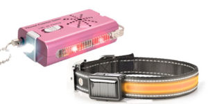 LIGHTED DOG COLLAR AND 3 IN 1 PERSONAL SAFETY ALARM