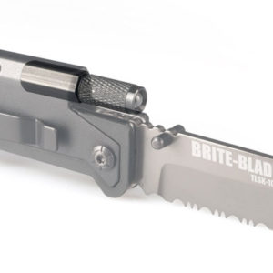 BRITE BLADE HUNTING KNIFE WITH FLASHLIGHT AND FIRE STARTER