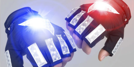 LED POLICE CYCLE GLOVES