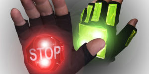 LED TRAFFIC SAFETY GLOVES